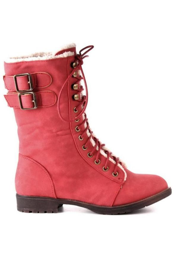 SW9012 ANKLE BOOT FUR PINK