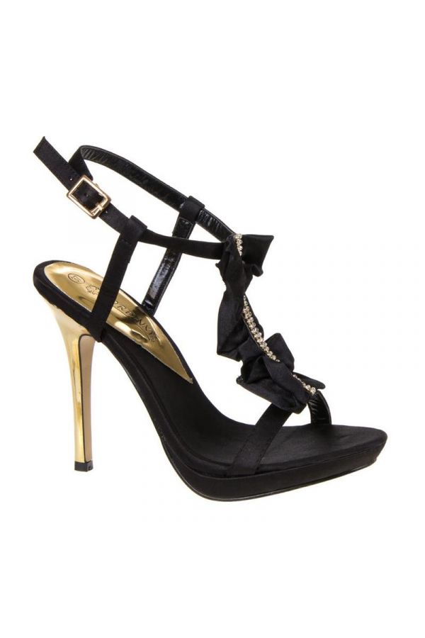 SW9049 SANDAL SATIN BLACK
