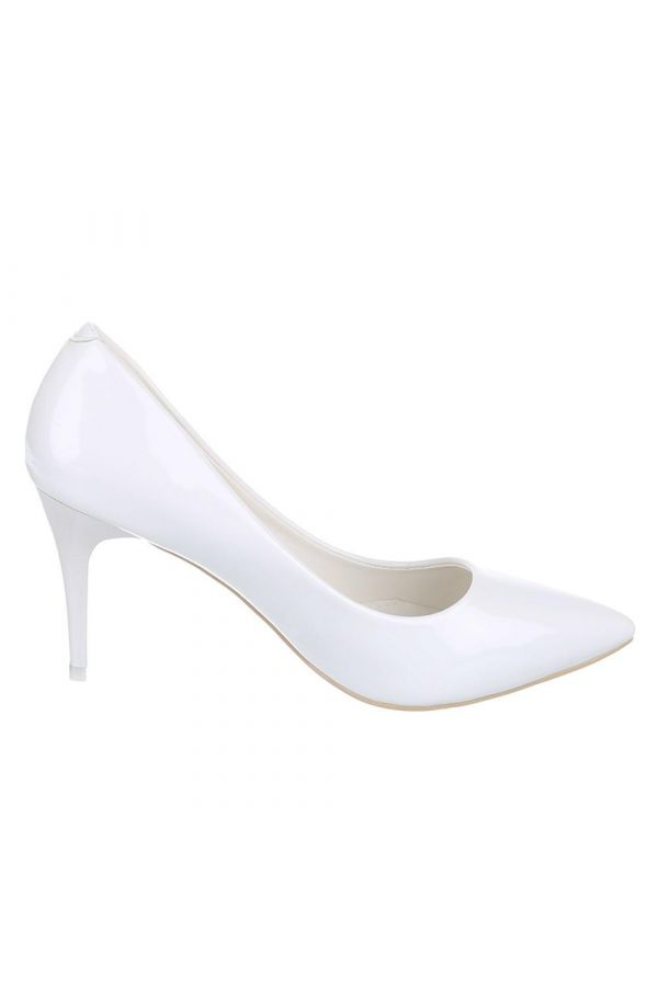 SW99148 PUMP POINTED PATENT WHITE