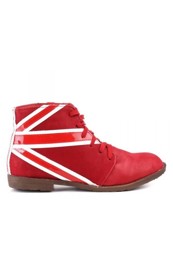 SW994 ANKLE BOOT FLAG RED