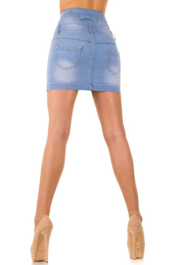 SKIRT HIGH WAIST JEAN BLUE SWJS537