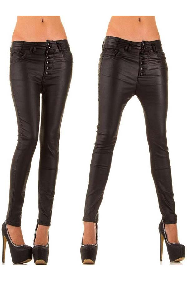 exclusive leather imitation pants at breeches design black