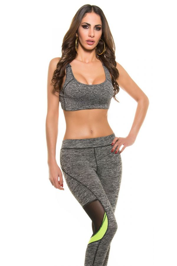 TOP CROP ATHLETIC SPORT GREY ISDM532172