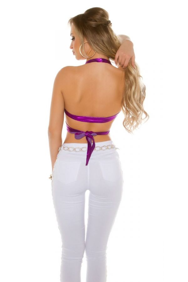 TOP FORMAL SHORT WET LOOK LILAC ISDVW100