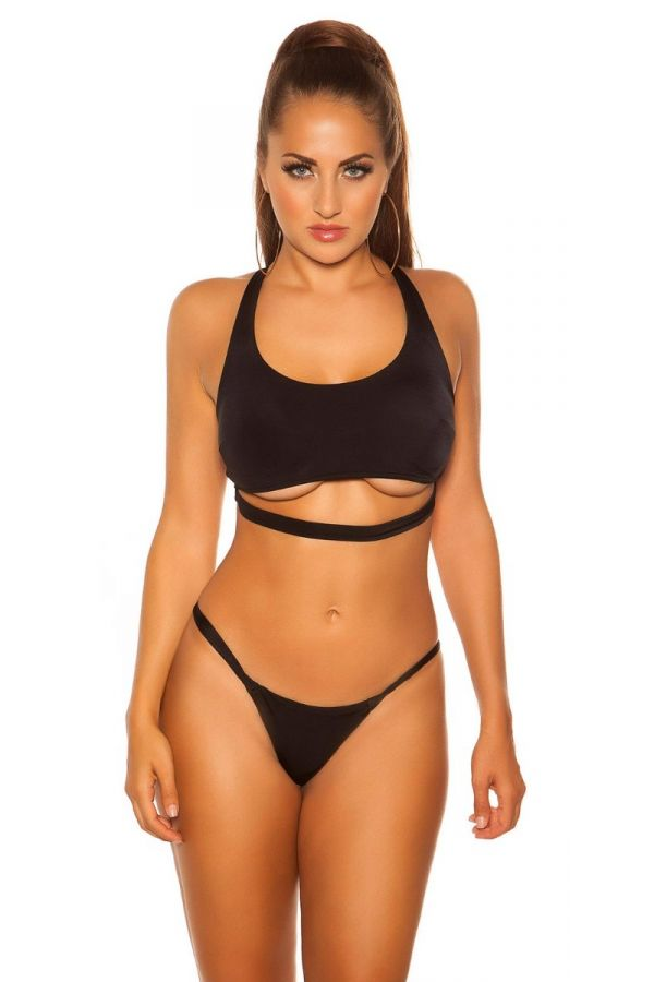TOP SWIMSUIT BRA SEXY STRAP BLACK ISDB20241