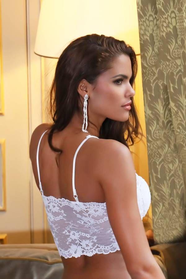 bra lingerie padding lace white.