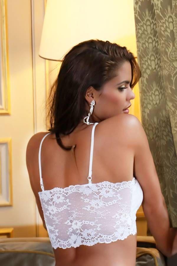 Bra Lingerie Padding Lace White GTOJ1146IB