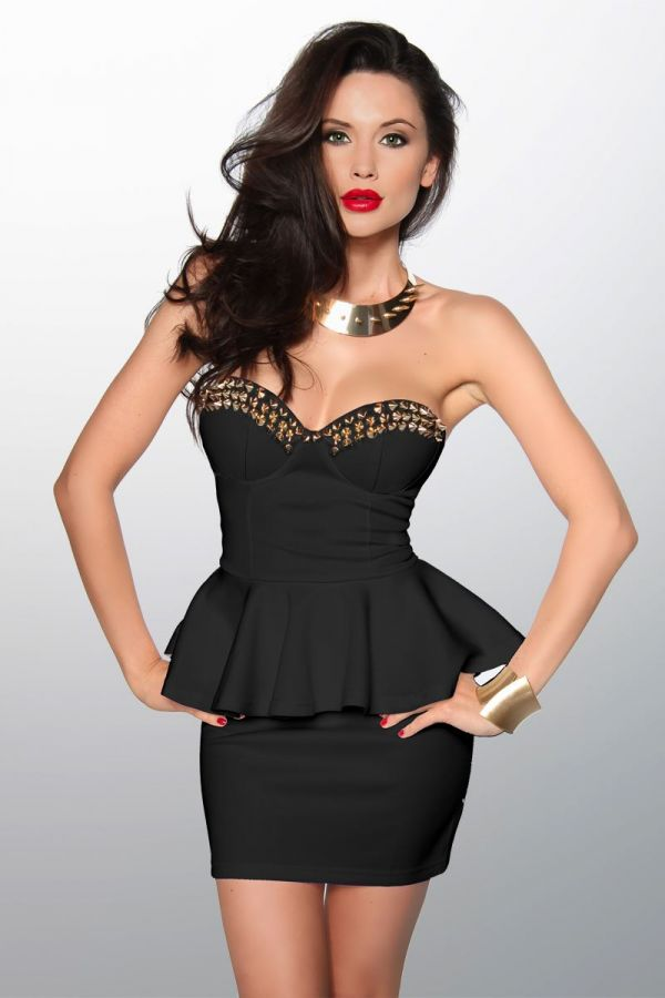 vintage_exclusive_mini_straples_dress_decorated_with_golden_spikes_black