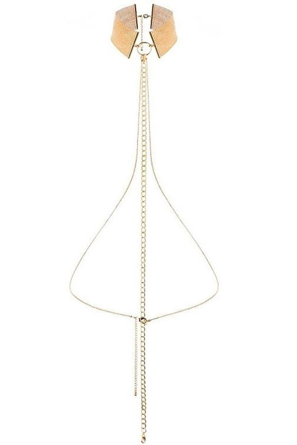 JEWERLY COLLAR BODY CHAIN GOLD DRE207034