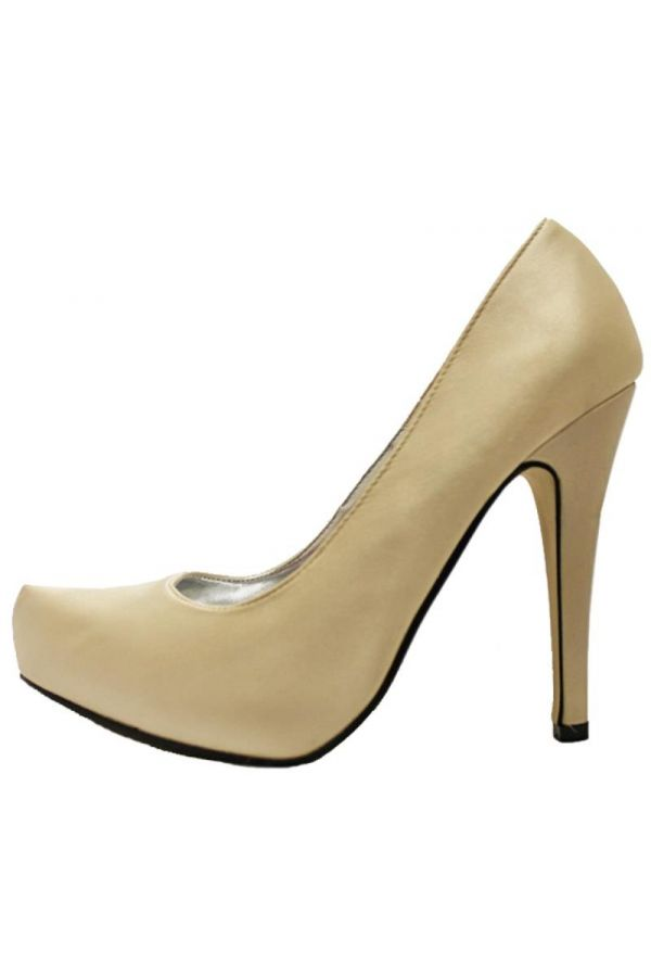 classic satin pointed pump gold